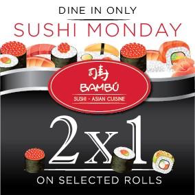 Sushi Mondays @ Bambu Sushi and Asian Cuisine