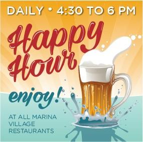 Every day is Happy Hour from 4:30pm to 6:00pm @ Los Sueños Marina Village Restaurants | Herradura | Puntarenas | Costa Rica