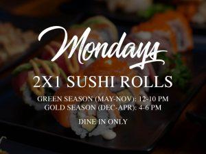 2x1 Sushi Monday @ Bambu Sushi and Asian | Herradura | Provincia de Puntarenas | Costa Rica